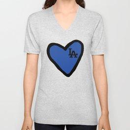 Love LA - Blue Unisex V-Neck