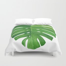 Monstera Deliciosa Leaf Duvet Cover