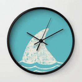 Beach Series Aqua - Shark Animal in the deep See Wall Clock
