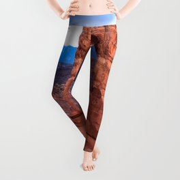 Delicate - Delicate Arch Glows on Rainy Day in Utah Desert Leggings