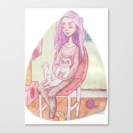 Cat Lover 1 Canvas Print