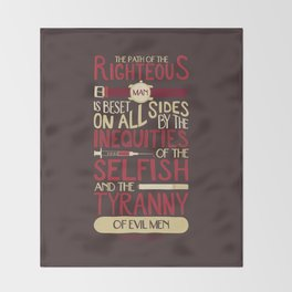 Ezekiel 25:17 Throw Blanket