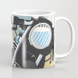Nuremberg Bavaria Motorcycle travel poster Coffee Mug