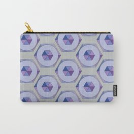 Lilac Hexagons Carry-All Pouch