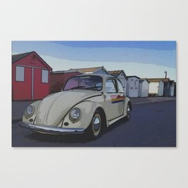 Southend on Sea Beach Huts Homage Canvas Print
