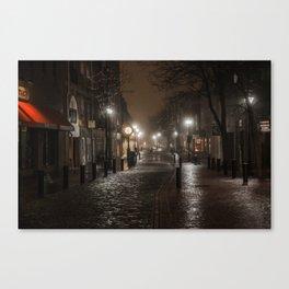 Foggy night in Salem Canvas Print