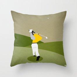 Golfing Throw Pillow
