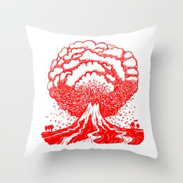 Volcano - Red Throw Pillow