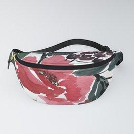 Watercolor Pink Flower Spread Fanny Pack