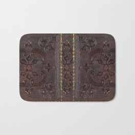 Ancient Leather Book Bath Mat