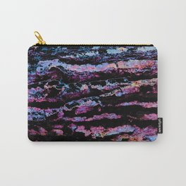 Organic Abstract in Black, Grey, Purple  &  Blues Carry-All Pouch