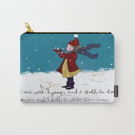 Snow day with bible verse Carry-All Pouch