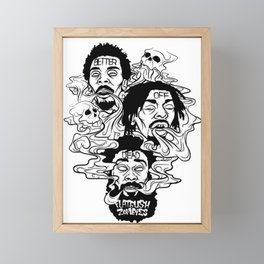 Flatbush Zombies BW Framed Mini Art Print