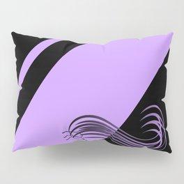 Purple Black Pillow Sham