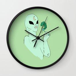 alien s2 brocolli Wall Clock