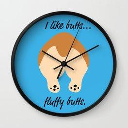Butt stuff Wall Clock