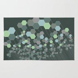 Hexagonal / cool Rug