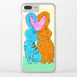 Tails of love Clear iPhone Case