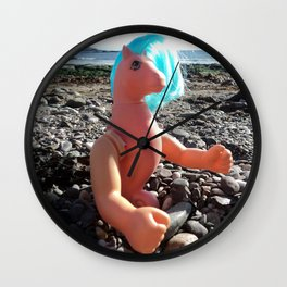 Arms and the Sea Pony Wall Clock
