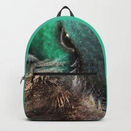 Sleepy mallard duck close-up 1 Backpack