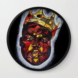 Biggie smalls,BIG,notorious,rapper,rap,legend,hiphop,street art,graffiti,gold,black,white,pop art Wall Clock