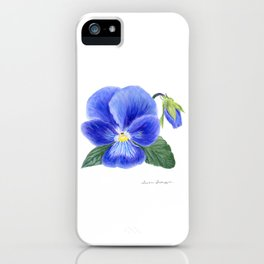 Purple Pansy by Teresa Thompson iPhone Case