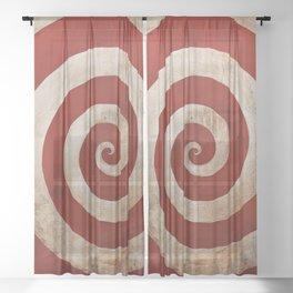 Sideshow Carnival Spiral Sheer Curtain