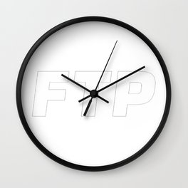 FTP |FUCKTHEPOPULATION (WHITE LETTERS) Wall Clock