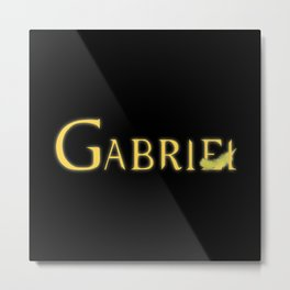 Gabriel with Feather Metal Print