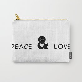 Peace and Love Motivational Pop-Art Carry-All Pouch