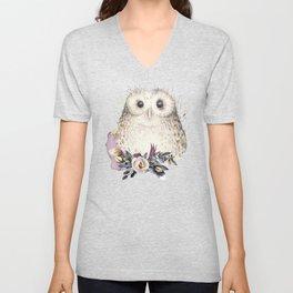 Boho Illustration- Be Wise Little Owl Unisex V-Neck