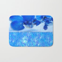 Blue Orchids Bath Mat