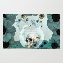Looking glass skull Rug