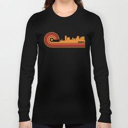 Retro Style Winnipeg Manitoba Canada Skyline Long Sleeve T-shirt
