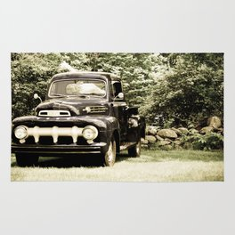 Ford in a Field Rug