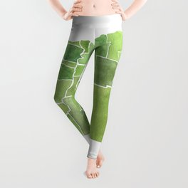 Oregon Counties watercolor map Leggings
