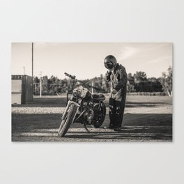 Vintage Cafe Racer Canvas Print