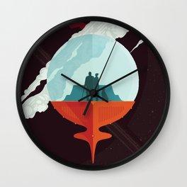 NASA Retro Space Travel Poster #3 - Enceladus Wall Clock