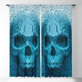 Pixel skull Blackout Curtain