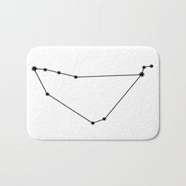 Capricorn Astrology Star Sign Minimal Bath Mat