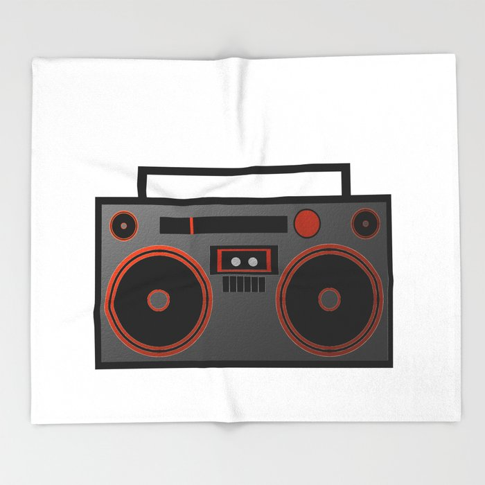 Boombox Throw Blanket