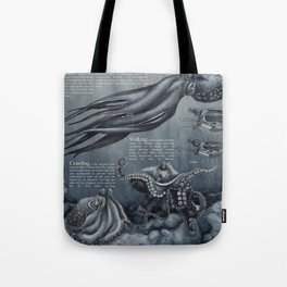 Locomotion of the Octopus vulgaris Tote Bag