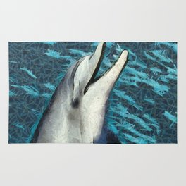 Happy Dolphin Art Rug