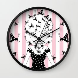 Lady CriCri Wall Clock