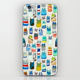 Lots of Watercolor Kitty Cats iPhone Skin