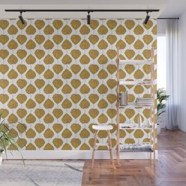 Goldenberry leaf pattern Wall Mural