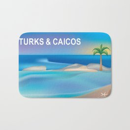 Turks and Caicos - Skyline Illustration by Loose Petals Bath Mat
