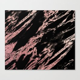 Darkness rose gold Canvas Print