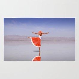 Ballerina Dancing On The Beach Rug