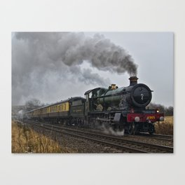Rood Ashton Hall steam locomotive Canvas Print
